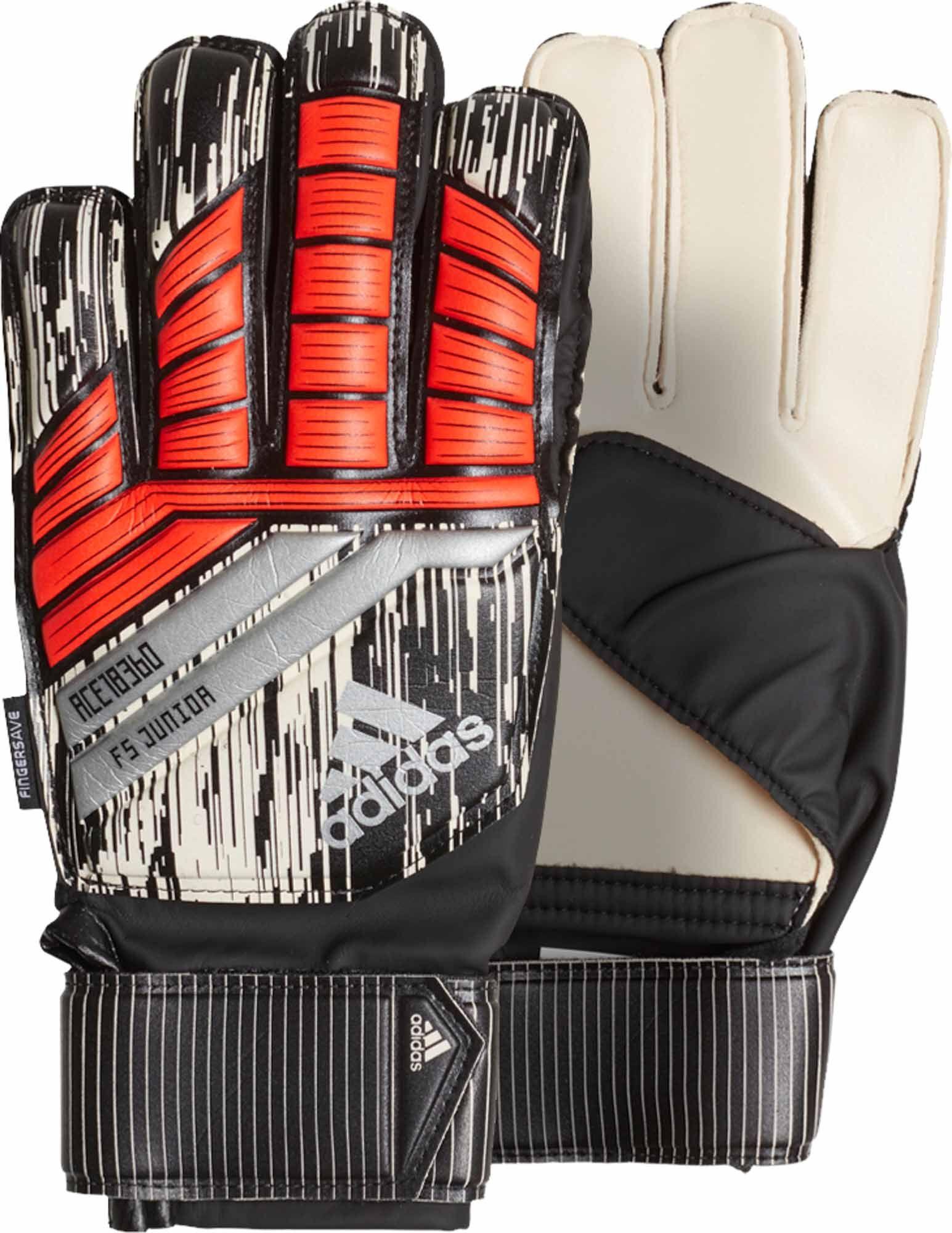 Youth adidas Predator Fingersave Goalie Gloves. Buy it from  www.soccerpro.com 6e63baa834