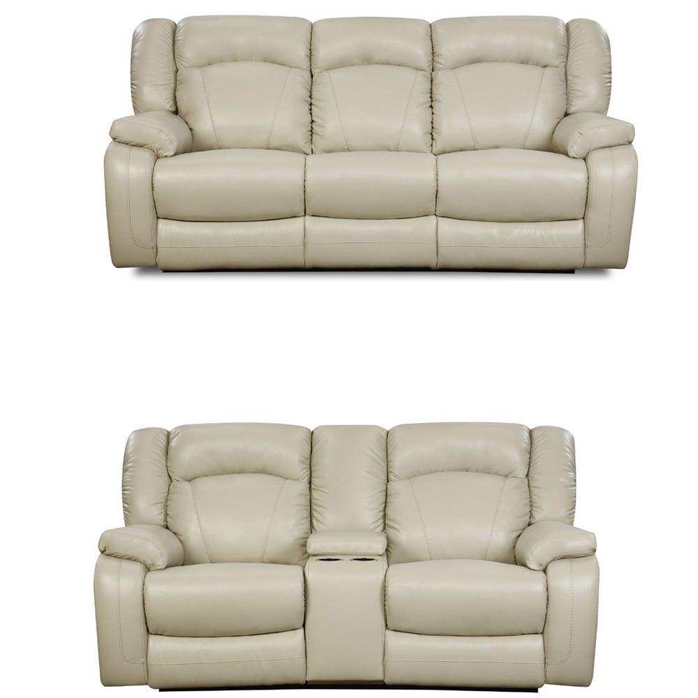 Simmons Upholstery - Yahtzee 2 Piece Power Sofa Set - 50280PBR-53-63 ...