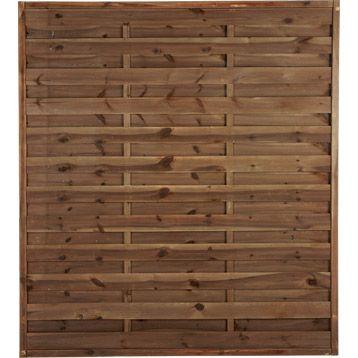 Panneau Droit Occultant Savanne 200x180 Cm Couleur Lasur Marron Paneling Madera Wood