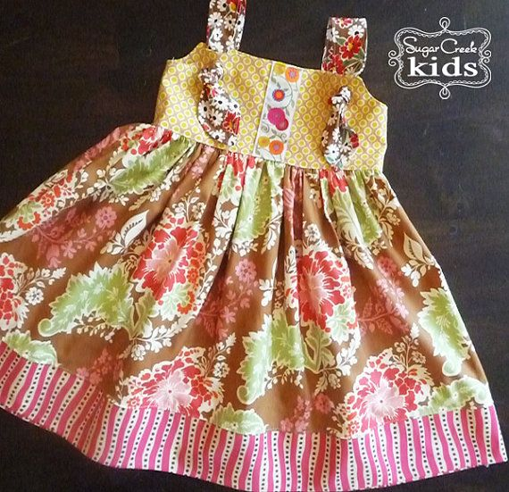 Knot DressGirls Sizes  18 mo 2t 3t 4t 5 6 7 & 8 by SugarCreekKids, $43.00
