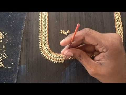 Hand Embroidery Pattern Tutorial #010 - Sally, Sequins and beads - YouTube
