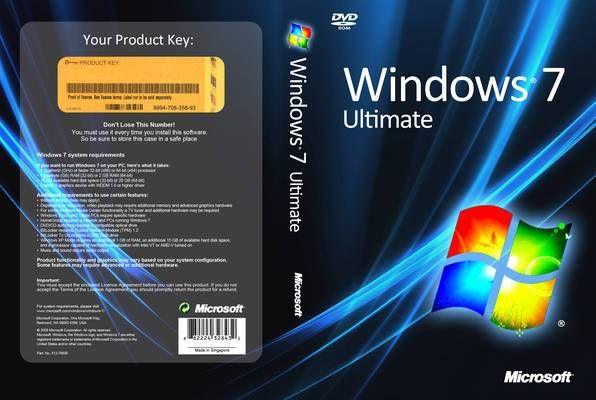 Microsoft Windows 7 Ultimate Pc App Cover Cover Dude Microsoft Microsoft Windows Windows