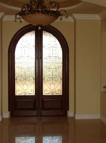 Arched Double Front Doors