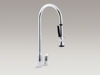 Promaster Two Hole Kitchen Sink Faucet With Overhead 27 1 2 Spout
