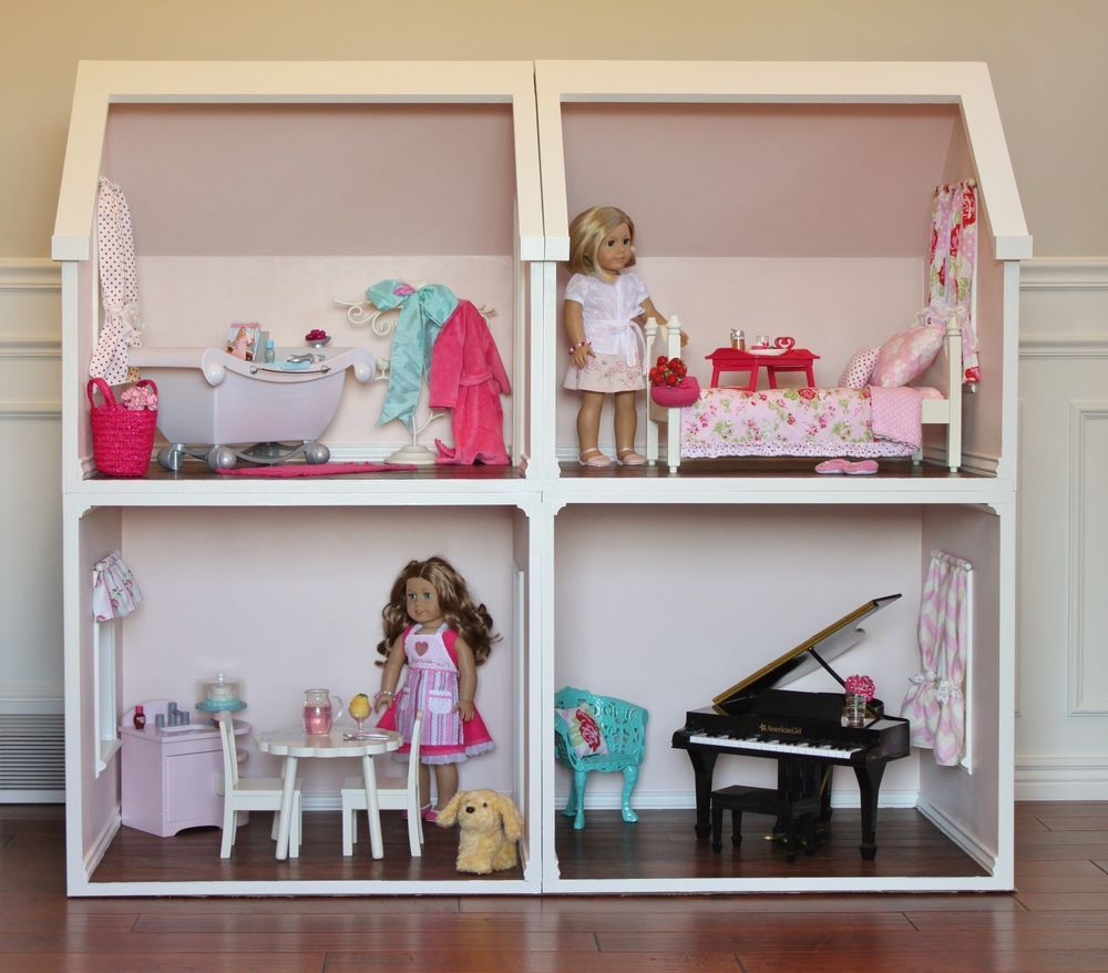 Details about Digital Doll House Plans for American Girl Dolls 4 Rooms NOT ACTUAL DOLLHOUSE