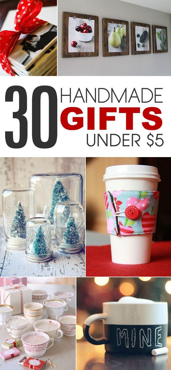 30 Handmade Gift Ideas to Make For Under $5 Easy homemade gifts