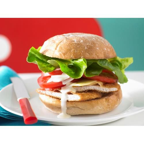 Chicken Schnitzel Burger Recipe Chicken Schnitzel Delicious Burger Recipes Recipes