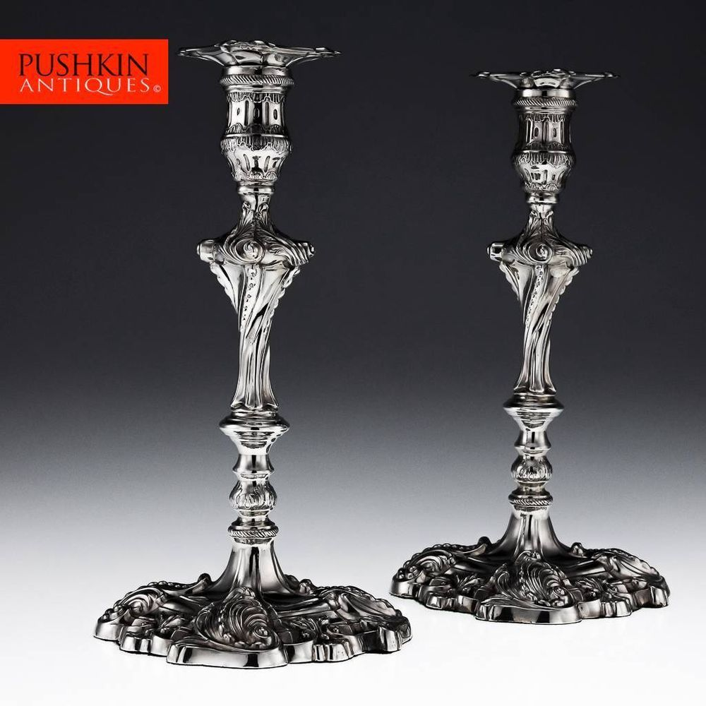 Sterling Silver Square Based Candlestick | Silver