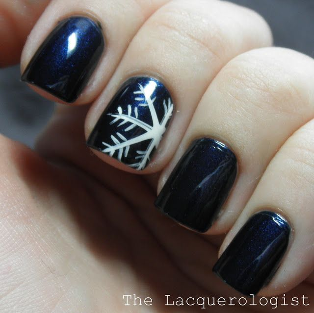 The lacquerologist picture polish saturday snowflake on electric when it comes to winter nothing says winter better than snowflakes so today we have chosen 16 snowflake nail designs that you should try this winter prinsesfo Choice Image