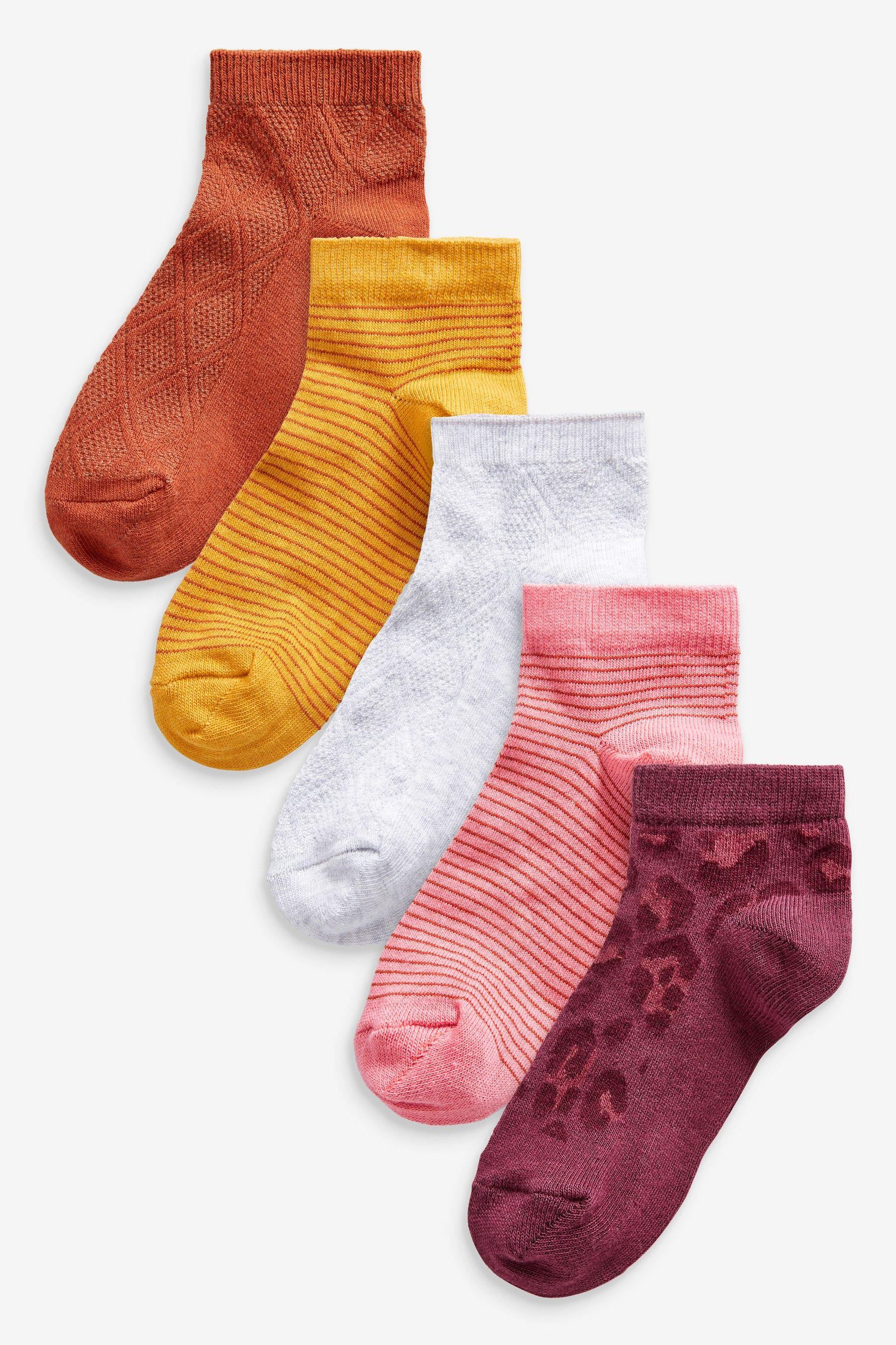 Girls Next Multi 5 Pack Trainer Socks