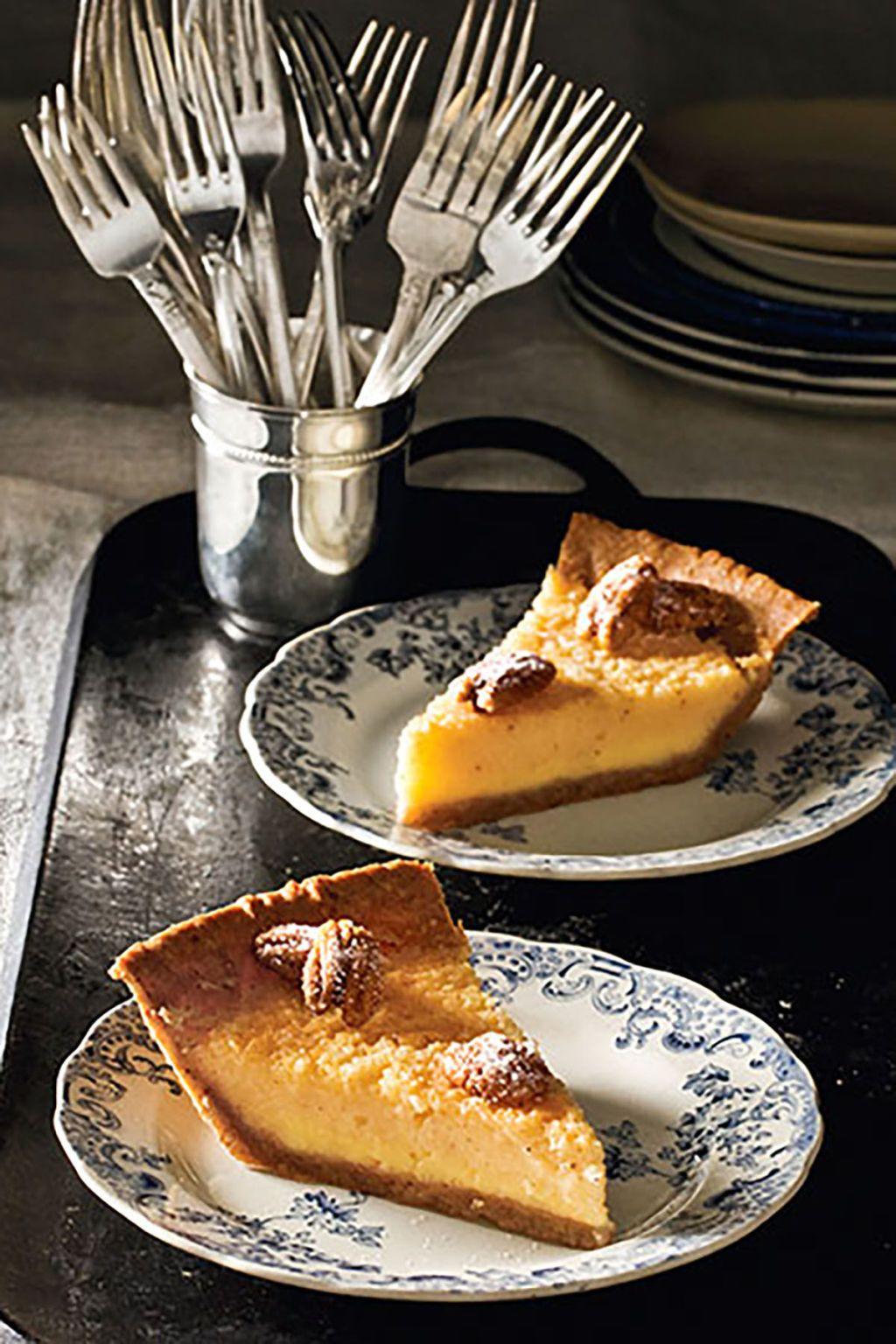 Buttermilk Pie with Pecan Crust forecast