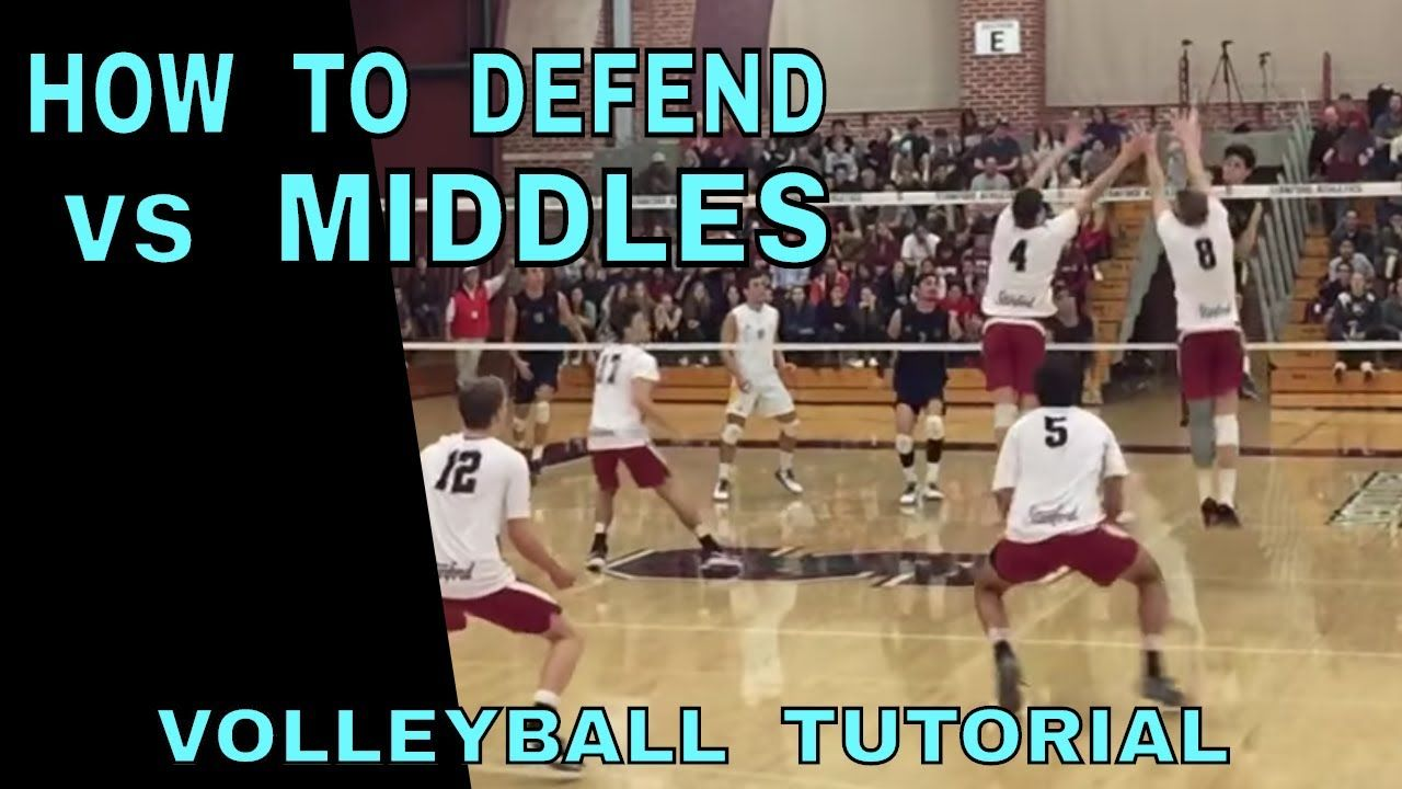How To Defend Middle Spikes Volleyball Tutorial Volleyball Defense Youtube Spike Volleyball Volleyball Training Volleyball