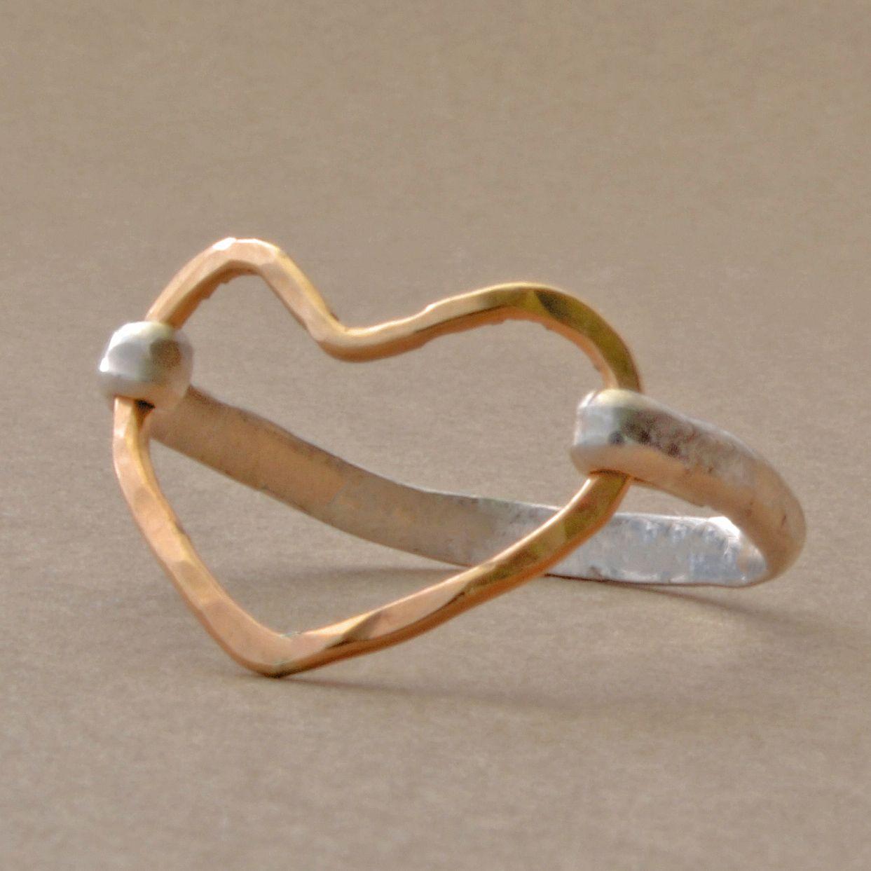 Open Heart Ring - Elizabeth Plumb Jewelry