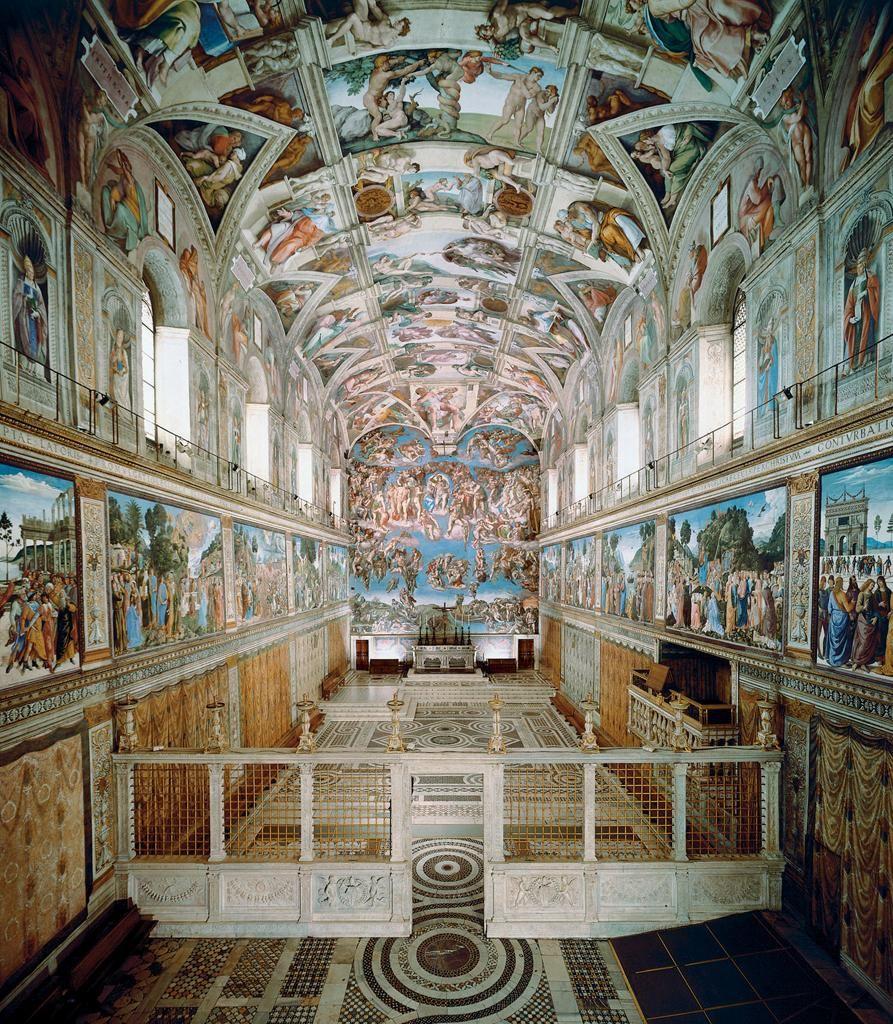38f68548d02 75. Sistine Chapel ceiling and altar wall frescoes. Vatican City ...