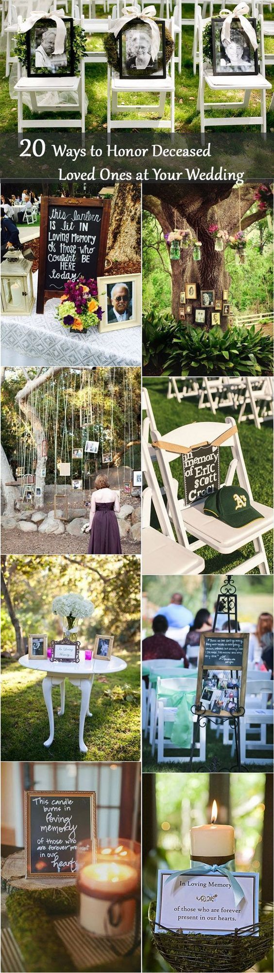 Wedding decorations unique  unique wedding ideas to honor lost loved ones