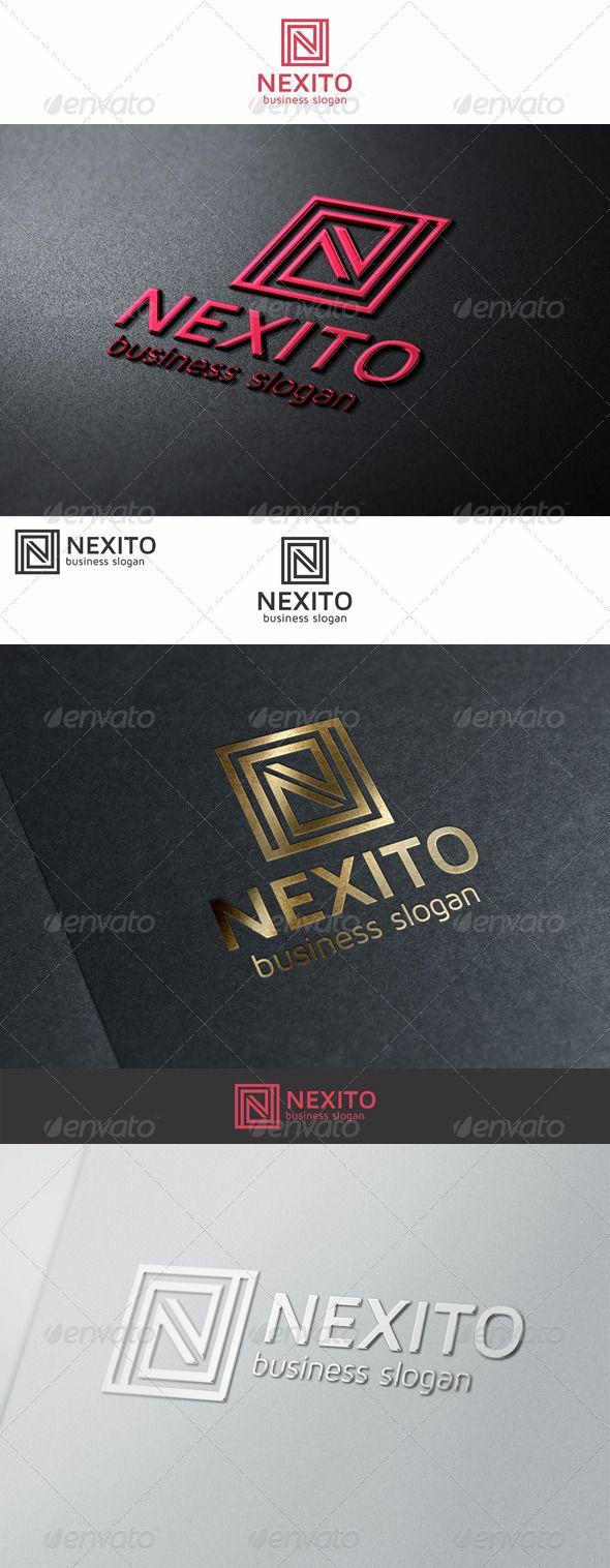 N Monogram Logo Letter Great logo template suitable for