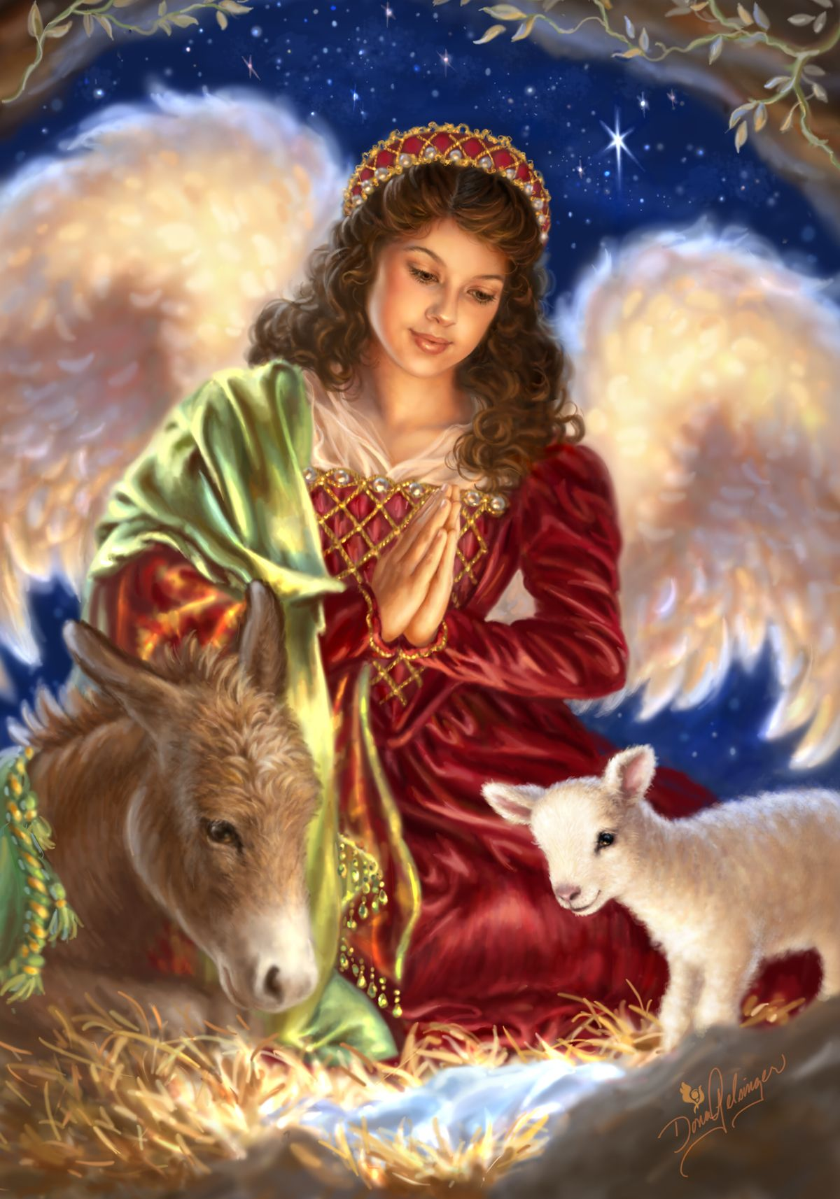 Angels Beauty Colored Faces: AWAY IN A MANGER BY DONA GELSINGER