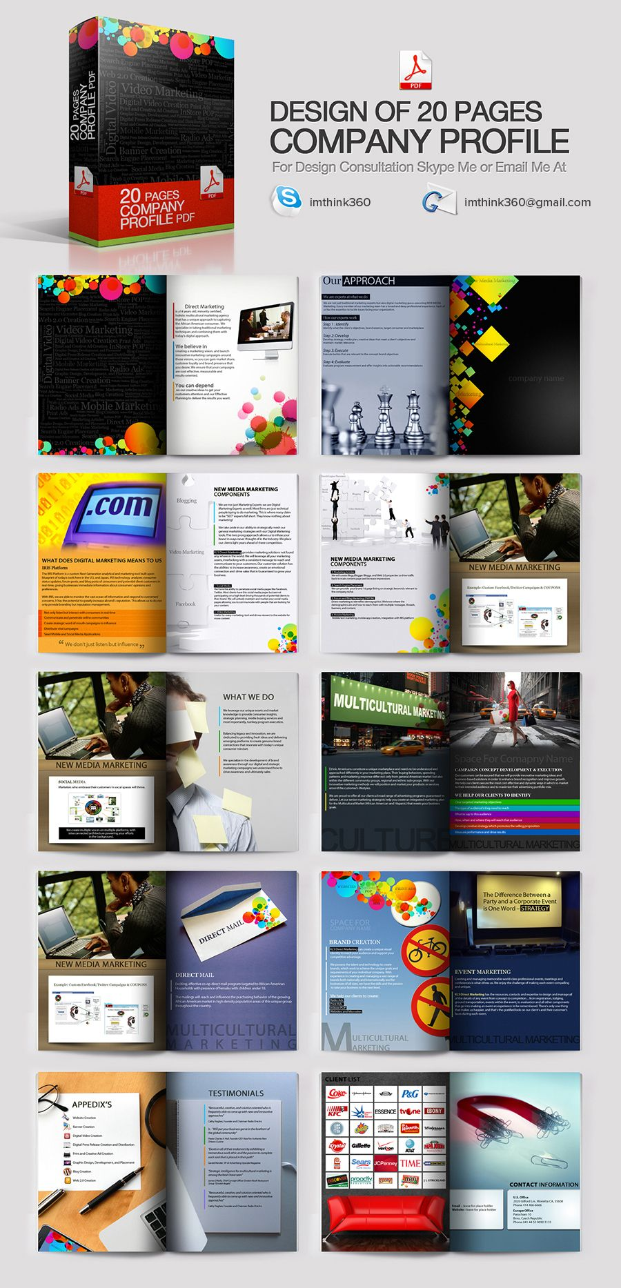 Think 360 Has Made Creative Company Profile Design India Company Infographics Pdfs Graphic Design Illustration And Photograph For Corporate It Companies