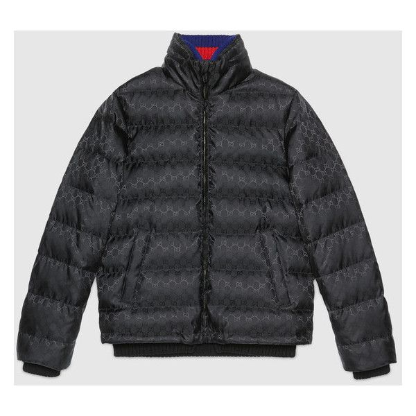 Gucci Gg Jacquard Quilted Nylon Jacket 1535 Via Polyvore
