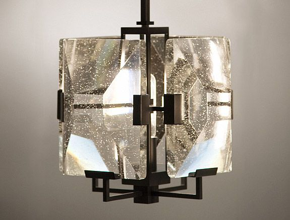 Holly Hunt Lighting Crystal Lens Pendant By Allison Berger