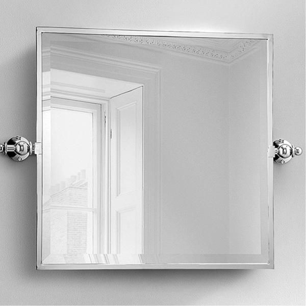 Studio Bagno New York 121 Bathroom Mirror Tilting Square Wall Chromed Brass Finish Polished Available At Extra Cost