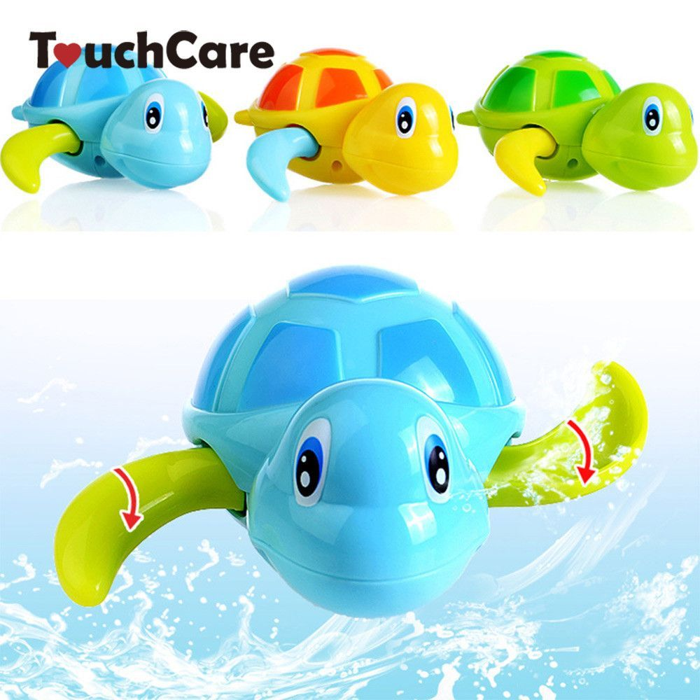 Newborn Cute Cartoon Animal Tortoise Baby Bath Toy Infant Swim ...