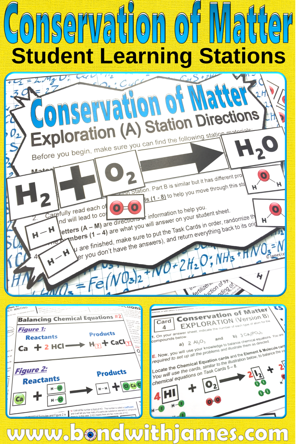 hight resolution of Conservation of Matter Student Learning Stations
