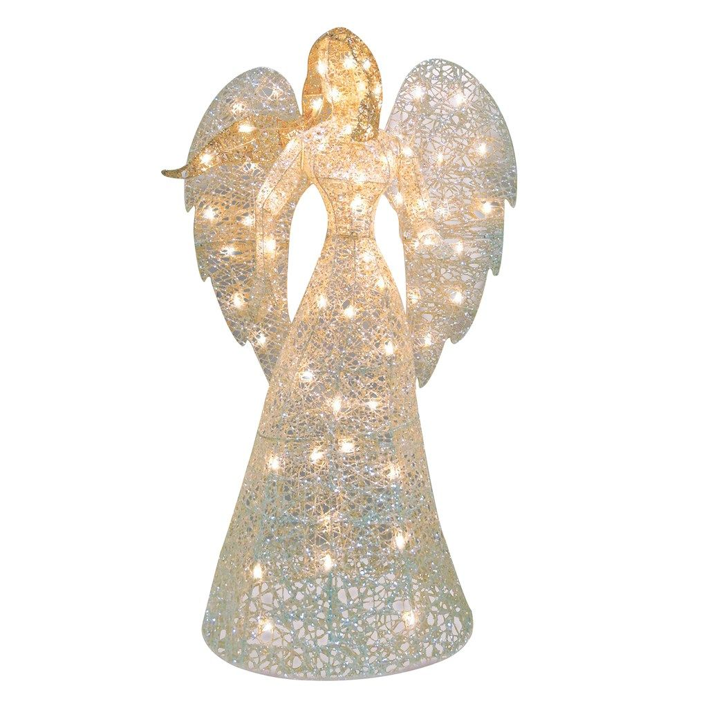 Northlight Seasonal Lighted Glitter Angel Decoration