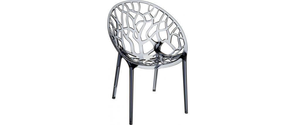 Chaises Design Empilables Transparentes Fumees Lot De 4 Arbol Chaise Design Miliboo Design