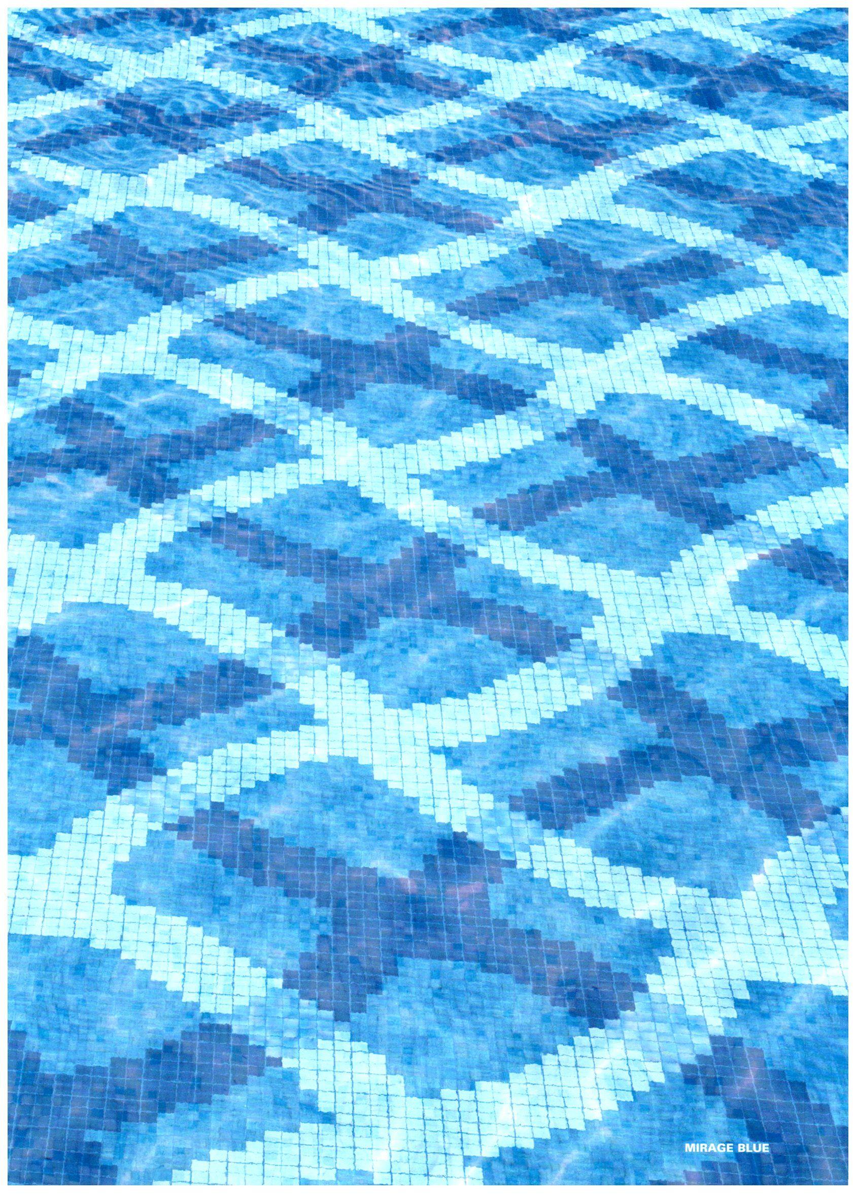 bisazza decori modern mirage blue Beautiful #pool #mosaic ...