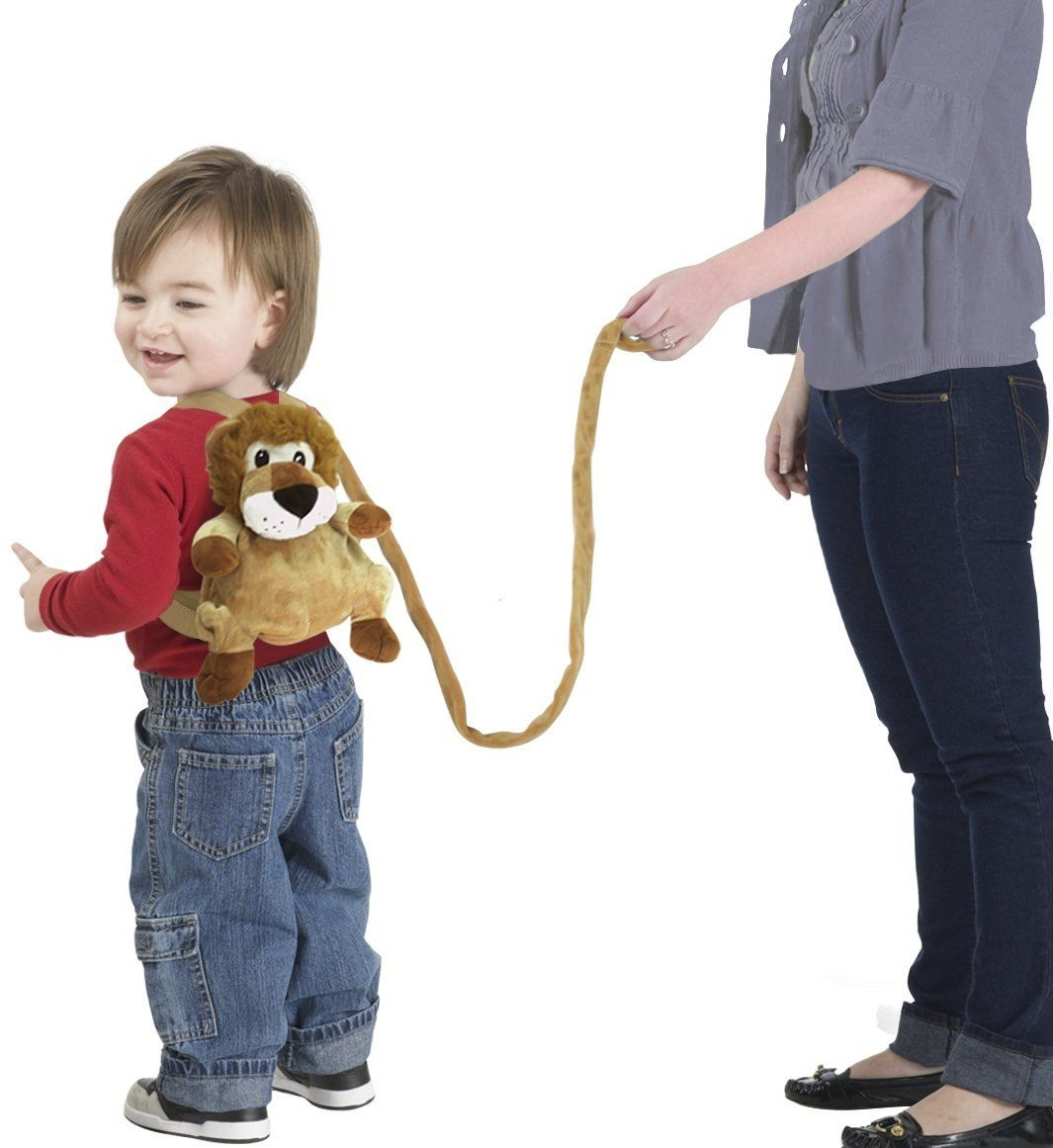 23af08a08ffc6d1eb5a6a6421593094f jeep 2 in 1 harness backpack, lion, brown, white, child leash, baby