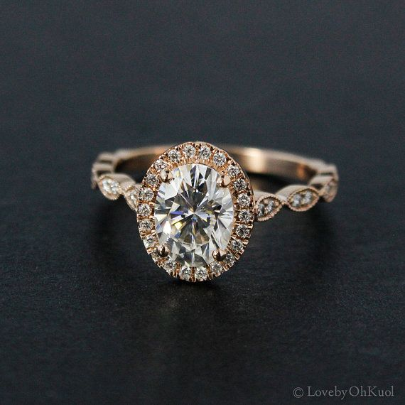 forever one colorless oval cut moissanite engagement ring