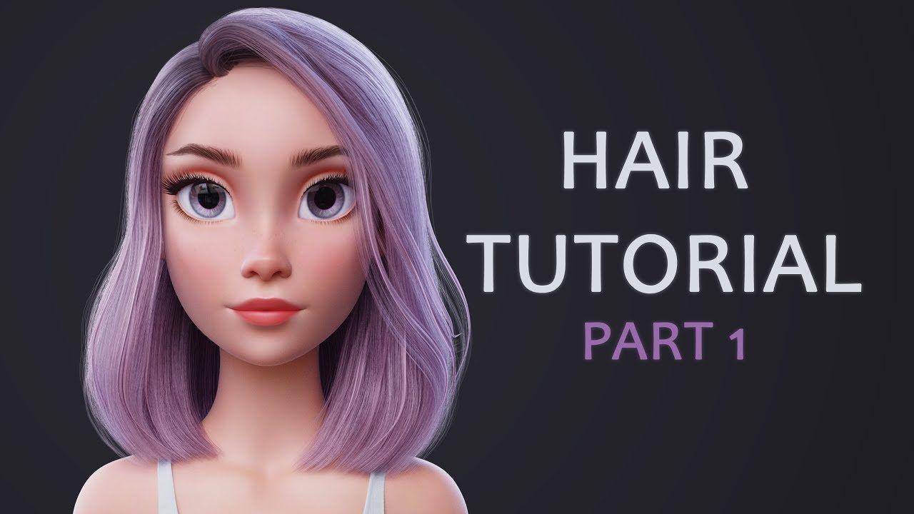 Render test hair animation in Blender Eevee - YouTube