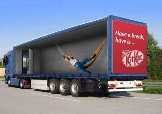 Een goed voorbeeld van creatief #adverteren!
