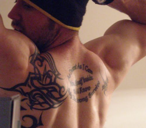 12 Tribal Upper Back Tattoo Designs For Men Tattoo Designs Men Upper Back Tattoos Back Tattoos For Guys