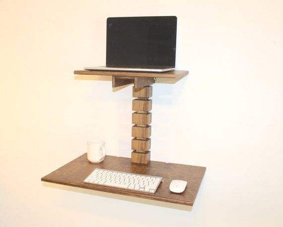 The Wall Mounted Standing Desk Is An Ergonomic Adjustable