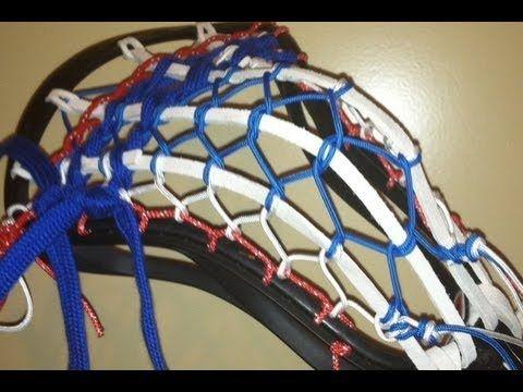 Traditional Lacrosse Pocket Stringing Tutorial Multiple Strings By Con Lacrosse Star Work Brooks Sneaker