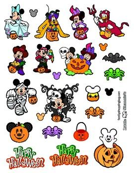 Printable Halloween Mickey Stickers for your Trick or Treaters