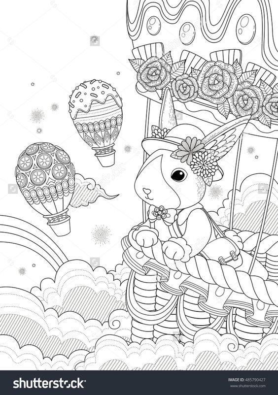 Pin de Judy Haynes Faust en coloring: bunnies | Pinterest | Colores ...