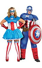 Adult American Dream u0026 Captain America Couples Costumes Plus Size  sc 1 st  Pinterest & Adult American Dream u0026 Captain America Couples Costumes Plus Size ...