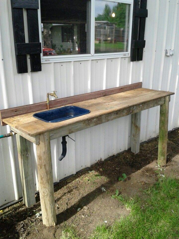 Outside garden sink  Reuse in 2019  Garden sink
