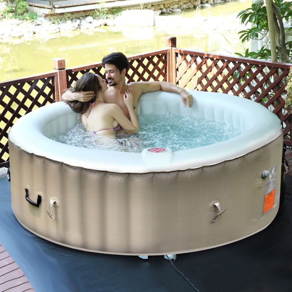 6 Person Portable Inflatable Hot Tub For Outdoor Jets Bubble