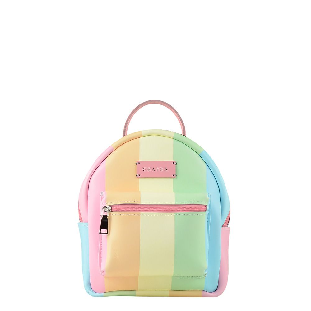 453628cc35 ZIPPY RAINBOW Small Size Leather Backpack
