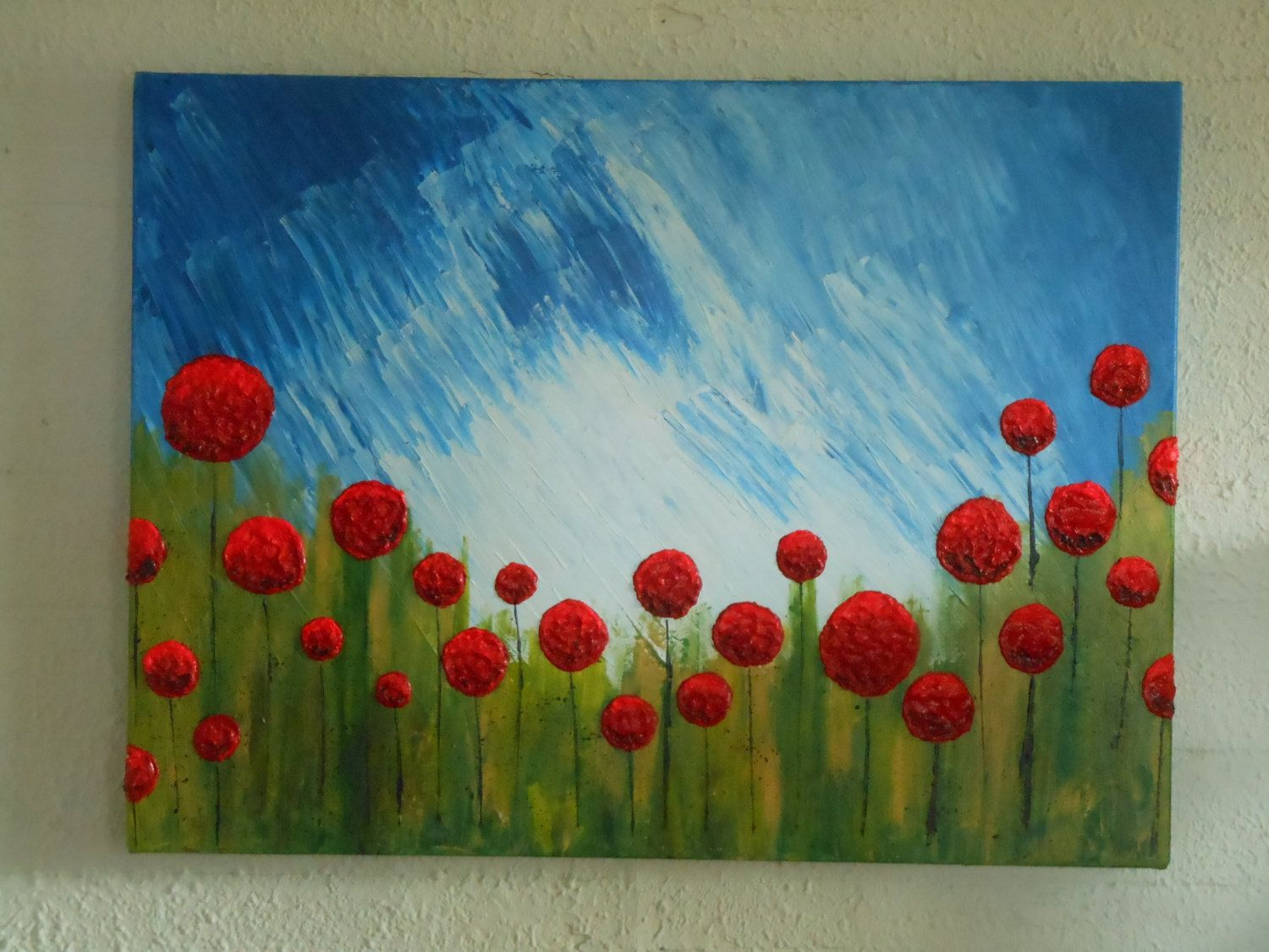 """Lollipop Pops on a Sunny Afternoon. Impressionism Palette Knife Painting. Size of Painting: 30"""" x 40"""". by NAWLINSGIRLDESIGNS on Etsy"""