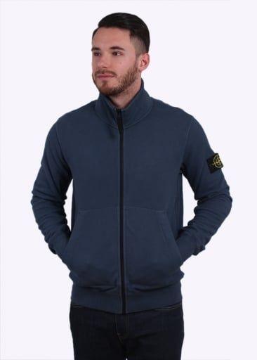 412721d0d37a Stone Island Zip Sweatshirt - Dark Blue