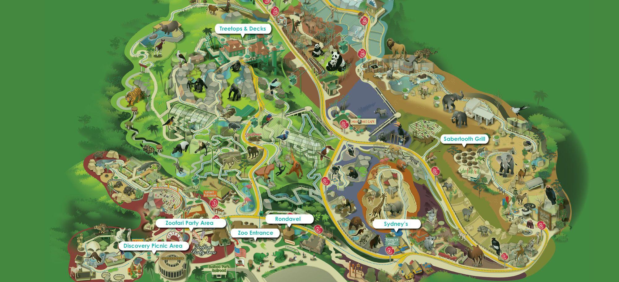 San Diego Zoo Venues San Diego Zoo Safari Park Events Maps - San diego zoo map