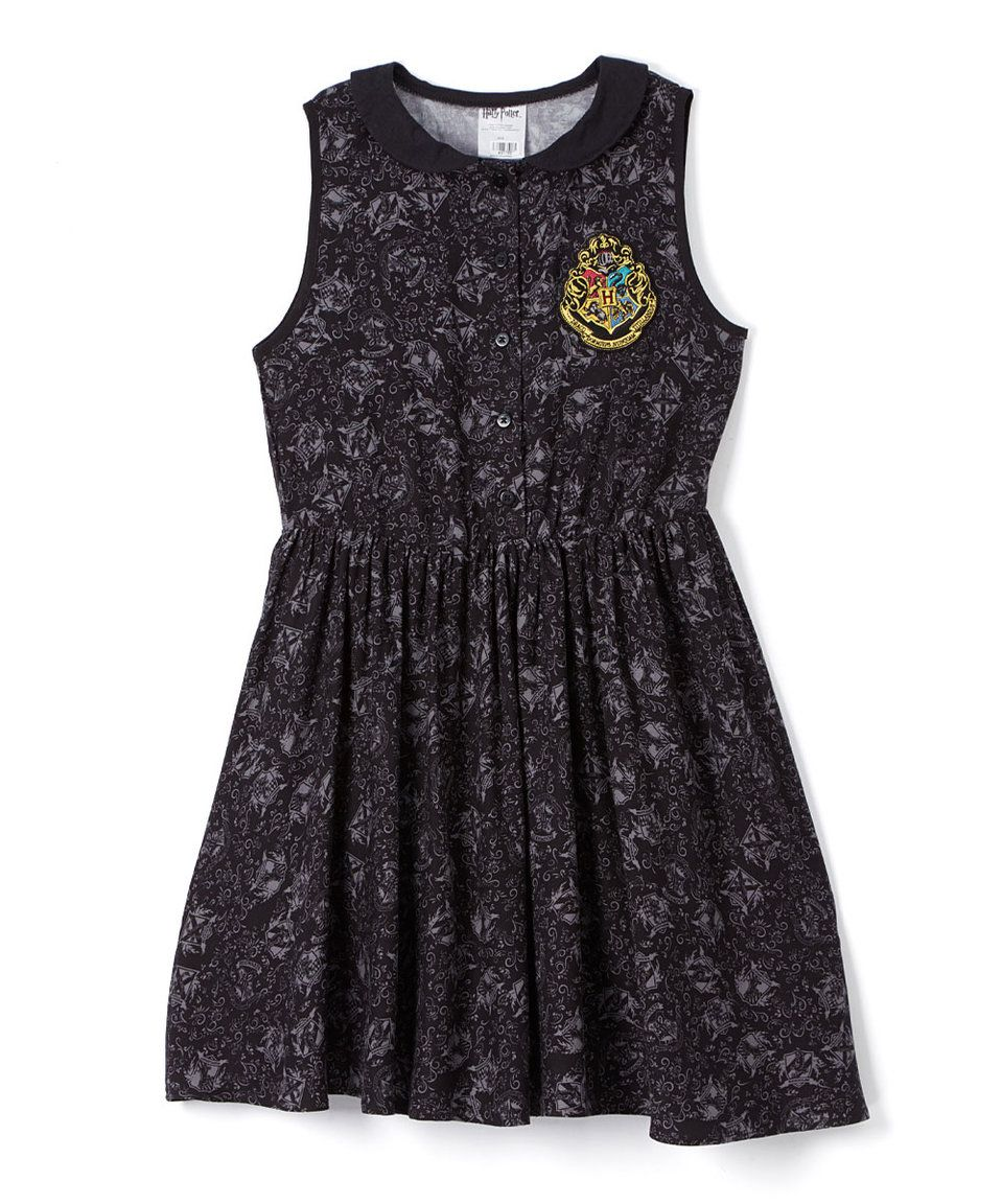 Take a look at this Black Harry Potter Collar Dress - Juniors today!