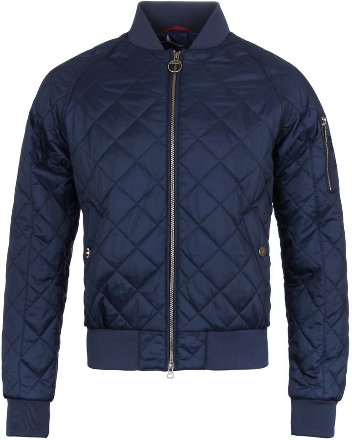 f2a719383cb2c Barbour International Steve McQueen Junior Navy Quilted Bomber Jacket