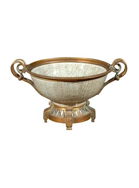 19th Century Chinese Crackleware Bowl with Bronze Fittings, circa 1875