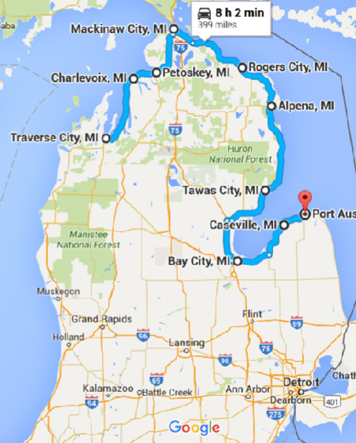 10 Places You Can Go On One Tank Of Gas In Michigan Michigan Road Trip Road Trip Fun Michigan Vacations